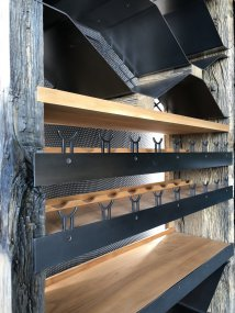 Wine cellar racks and solid oak