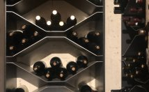Metallic wine racks